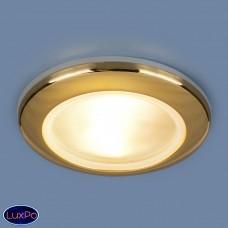 Влагозащищенный встраиваемый точечный светильник Elektrostandard 1080 MR16 GD золото a031493