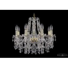 Хрустальная люстра Bohemia Ivele Crystal 1403-8-160-G