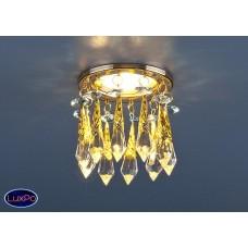 Встраиваемый потолочный светильник Elektrostandard 2021 золото/тонированный/голубой (FGD/GC/BL) a025784