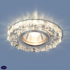 Встраиваемый потолочный светильник с LED подсветкой Elektrostandard 2202 MR16 CL прозрачный a038454