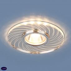 Встраиваемый потолочный светильник с LED подсветкой Elektrostandard 2203 MR16 CL прозрачный a038456