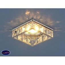 Встраиваемый потолочный светильник Elektrostandard 7274 MR16 CH/CL хром/прозрачный a032280