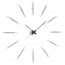 Merlin 12 i BLACK, Nomon(Испания), часы настенные, d=110cm, мех-м UTS MEI012N