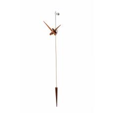 Punto y Coma N (хром/орех), h=113cm., часы настенные Nomon PCN